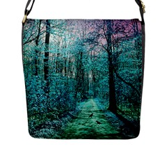 Blue Forest Flap Closure Messenger Bag (l)
