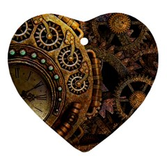 Steampunk Clock Ornament (heart)