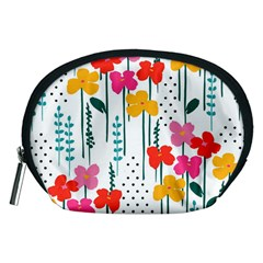 Fancy Floral Pattern Accessory Pouch (medium) by tarastyle