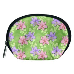 Lily Flowers Green Plant Natural Accessory Pouch (medium)