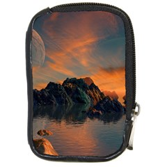 Horizon Sunset Evening Sunrise Compact Camera Leather Case