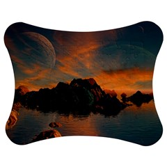 Horizon Sunset Evening Sunrise Jigsaw Puzzle Photo Stand (bow)