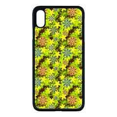 Flowers Yellow Red Blue Seamless Iphone Xs Max Seamless Case (black) by Pakrebo