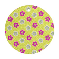 Traditional Patterns Plum Ornament (round)