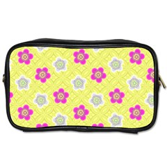 Traditional Patterns Plum Toiletries Bag (one Side)