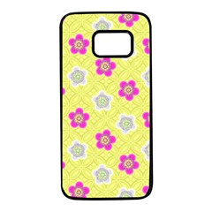 Traditional Patterns Plum Samsung Galaxy S7 Black Seamless Case by Pakrebo