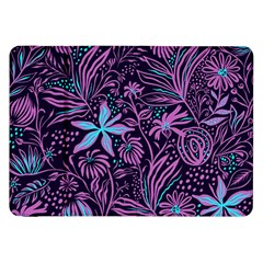Stamping Pattern Leaves Drawing Samsung Galaxy Tab 8 9  P7300 Flip Case by Pakrebo
