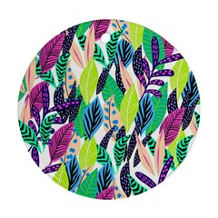 Leaves Drawing Pattern Nature Round Ornament (two Sides)