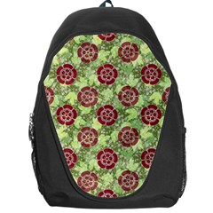Seamless Pattern Leaf The Pentagon Backpack Bag by Pakrebo
