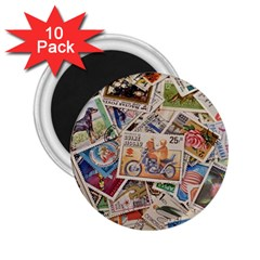 Wallpaper Background Stamps 2 25  Magnets (10 Pack)  by Pakrebo