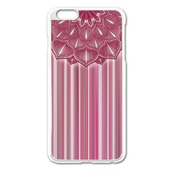 Cranberry Striped Mandala   Iphone 6 Plus/6s Plus Enamel White Case by WensdaiAddamns