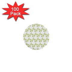 Fancy Floral Pattern 1  Mini Buttons (100 Pack)  by tarastyle