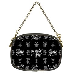 Black And White Ethnic Design Print Chain Purse (one Side) by dflcprintsclothing