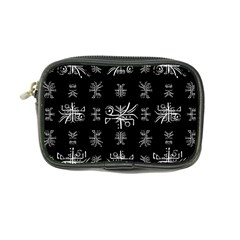 Black And White Ethnic Design Print Coin Purse by dflcprintsclothing