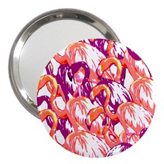 Flamingos 3  Handbag Mirrors