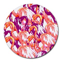 Flamingos Round Mousepads by StarvingArtisan