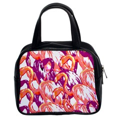 Flamingos Classic Handbag (two Sides) by StarvingArtisan