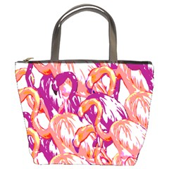Flamingos Bucket Bag by StarvingArtisan