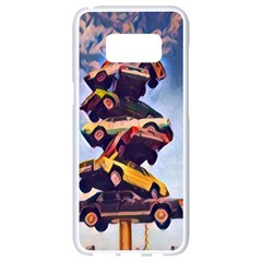 Pretty Colors Cars Samsung Galaxy S8 White Seamless Case by StarvingArtisan