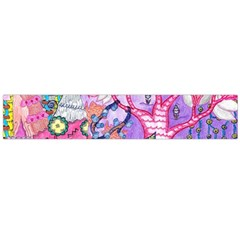 Trippy Forest Full Version Large Flano Scarf  by okhismakingart