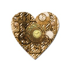 Wonderful Steampunk Design, Awesome Clockwork Heart Magnet by FantasyWorld7