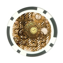 Wonderful Steampunk Design, Awesome Clockwork Poker Chip Card Guard (10 Pack) by FantasyWorld7