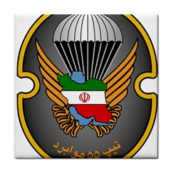 Insignia Of Iranian Army 55th Airborne Brigade Tile Coasters by abbeyz71