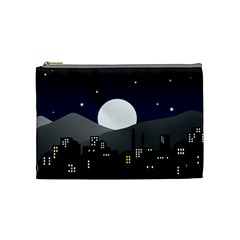 City At Night Cosmetic Bag (medium)