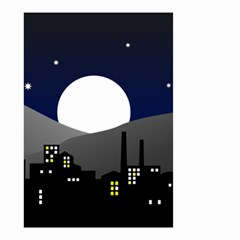 City At Night Small Garden Flag (two Sides)