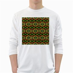 Pattern Red Green Yellow Black Long Sleeve T Shirt by Pakrebo