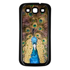 Peacock Feather Peacock Feather Samsung Galaxy S3 Back Case (black) by Pakrebo
