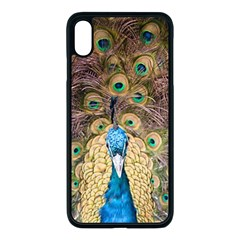 Peacock Feather Peacock Feather Iphone Xs Max Seamless Case (black) by Pakrebo