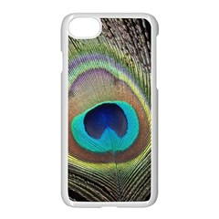 Peacock Feather Close Up Macro Iphone 8 Seamless Case (white) by Pakrebo