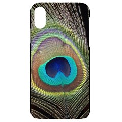 Peacock Feather Close Up Macro Iphone Xr Black Uv Print Case