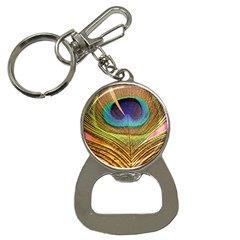 Peacock Feather Bird Colorful Bottle Opener Key Chains by Pakrebo