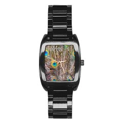 Pen Peacock Wheel Plumage Colorful Stainless Steel Barrel Watch