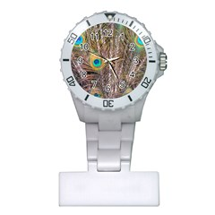 Pen Peacock Wheel Plumage Colorful Plastic Nurses Watch
