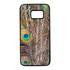 Pen Peacock Wheel Plumage Colorful Samsung Galaxy S7 Black Seamless Case