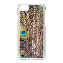 Pen Peacock Wheel Plumage Colorful Iphone 8 Seamless Case (white) by Pakrebo