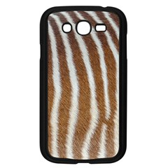 Skin Zebra Striped White Brown Samsung Galaxy Grand Duos I9082 Case (black)