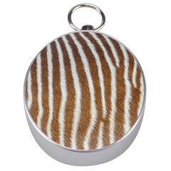 Skin Zebra Striped White Brown Silver Compasses