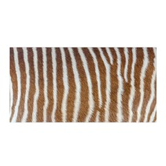 Skin Zebra Striped White Brown Satin Wrap