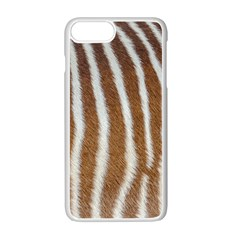 Skin Zebra Striped White Brown Iphone 7 Plus Seamless Case (white)