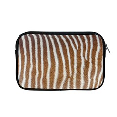 Skin Zebra Striped White Brown Apple Macbook Pro 13  Zipper Case