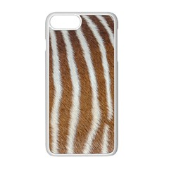Skin Zebra Striped White Brown Iphone 8 Plus Seamless Case (white)