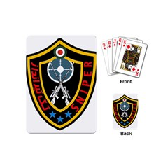 Nohed Sniper Badge Playing Cards (mini) by abbeyz71