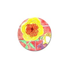 Reid Hall Rose Watercolor Golf Ball Marker (10 Pack) by okhismakingart