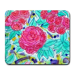 Roses And Movie Theater Carpet Large Mousepads by okhismakingart