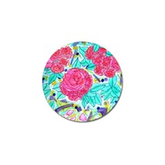 Roses And Movie Theater Carpet Golf Ball Marker (10 Pack) by okhismakingart