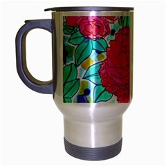 Roses And Movie Theater Carpet Travel Mug (silver Gray) by okhismakingart